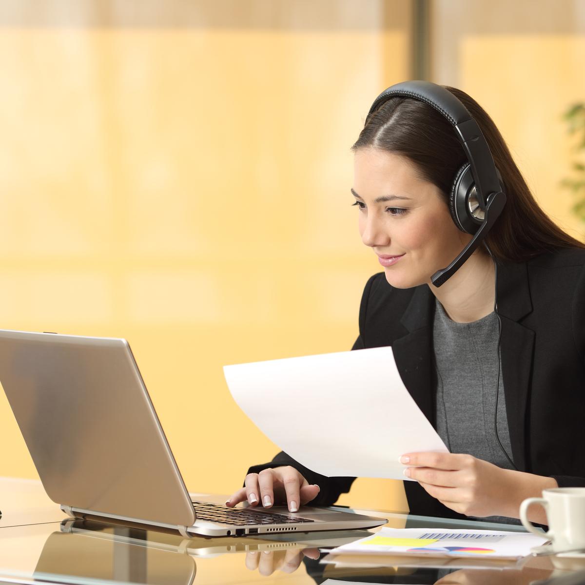 An associate answering a call